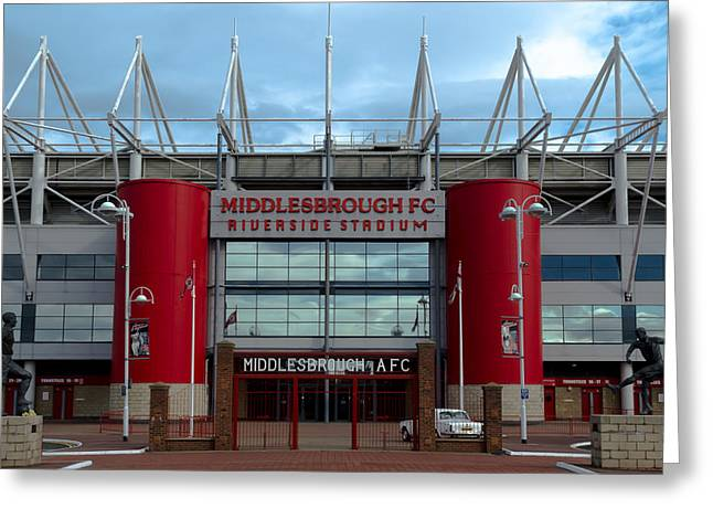 Football Stadium - Middlesbrough Greeting Card