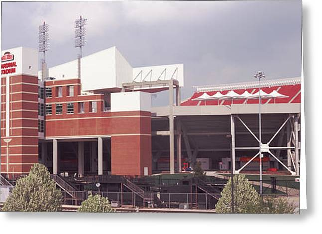 Football Stadium, Papa Johns Cardinal Greeting Card by Panoramic Images