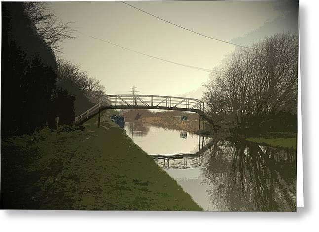 Footbridge Over The Trent And Mersey, The Spanking New Greeting Card by Litz Collection