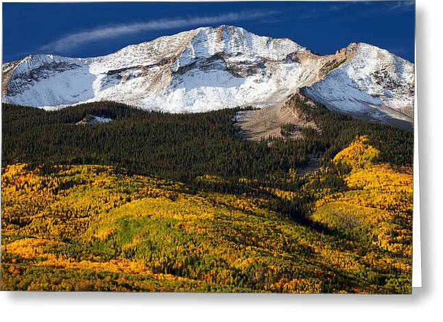 Foothills Of Gold Greeting Card by Darren  White