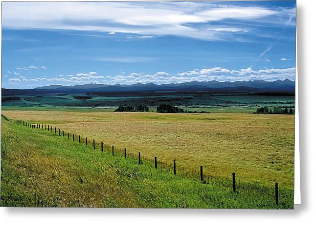 Foothills Of The Rockies Greeting Card by Terry Reynoldson