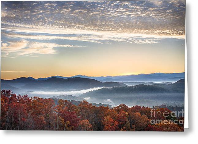 Foothills Parkway Fall Morning Greeting Card