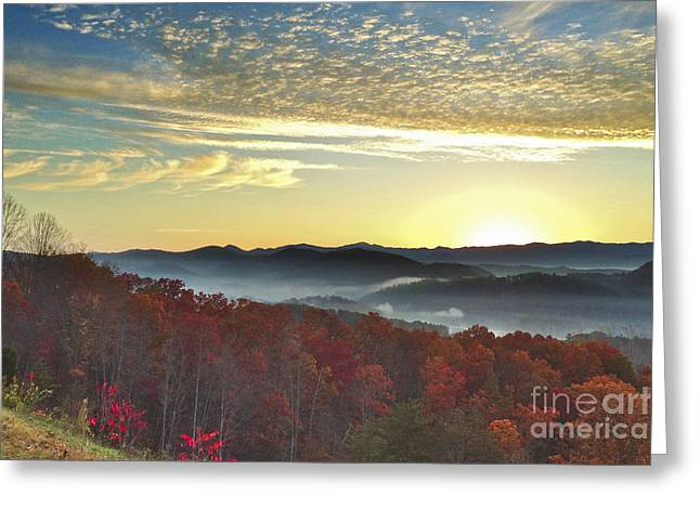 Foothills Parkway Sunrise Greeting Card