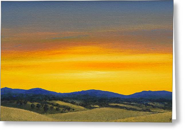 Foothills Sunrise Greeting Card