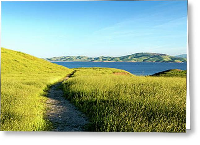 Footpath At San Luis Reservoir, Pacheco Greeting Card