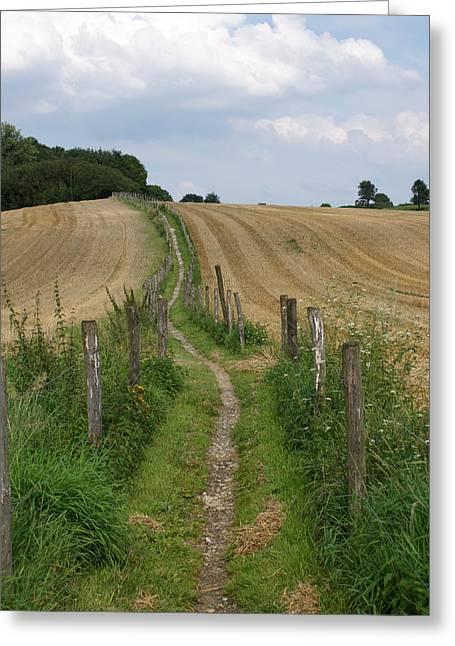 footpath in Zuid-Limburg The netherlands Greeting Card