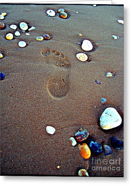 Footprint Greeting Card by Nina Ficur Feenan