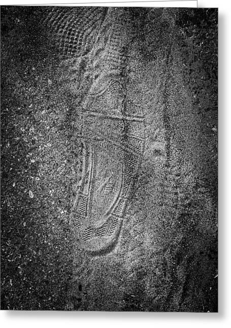 Footprint Of Unknown Person Greeting Card