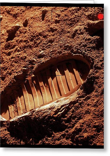 Footprint On Mars Greeting Card