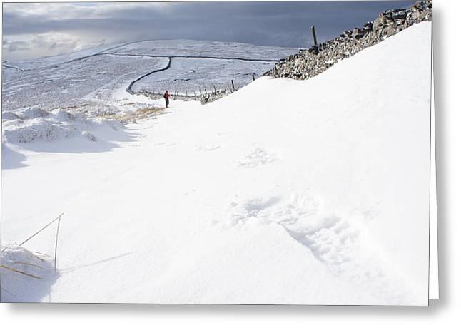 Footprint Greeting Card by Riley Handforth
