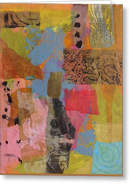 Greeting Card featuring the mixed media Footprints by Catherine Redmayne