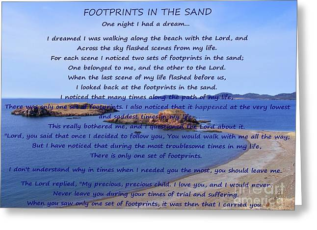 Footprints In The Sand 2 Greeting Card