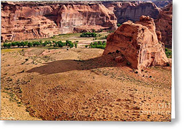 Footprints In The Sand  Canyon Dechelly Greeting Card