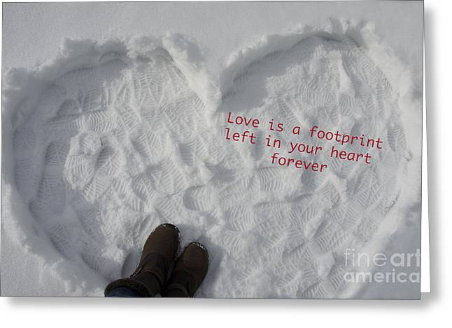 Footprints Greeting Card by Nicole Markmann Nelson