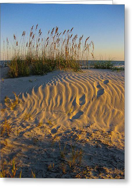 Footprints Greeting Card by Patricia Schaefer