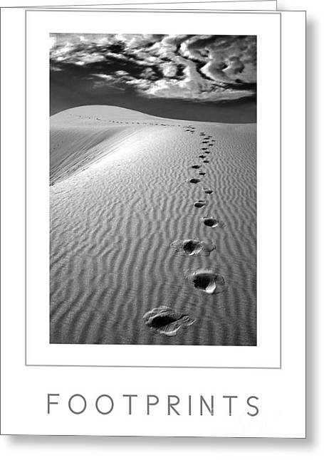 Footprints Poster Greeting Card by Mike Nellums