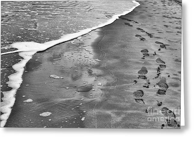 Footprints  Greeting Card by Tim Gainey