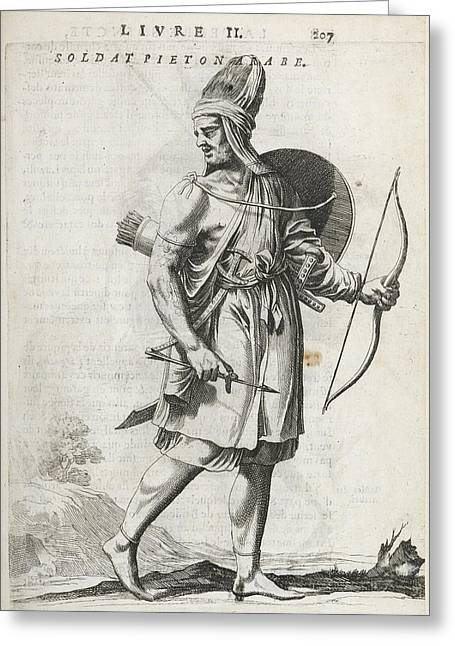 Footsoldier Of The Emir Fechrreddin Greeting Card by British Library