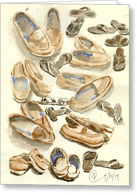 Footsteps Greeting Card by Marvic Jason Adoptante