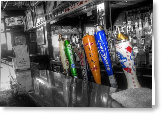 For All You Do - Beer Taps - Selective Color Greeting Card