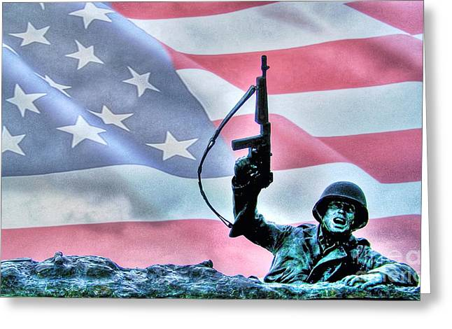 For Freedom Greeting Card by Dan Stone