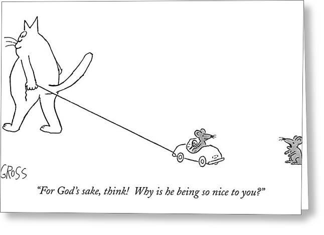 For God's Sake Greeting Card