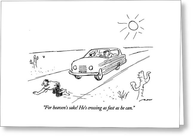 For Heaven's Sake Greeting Card