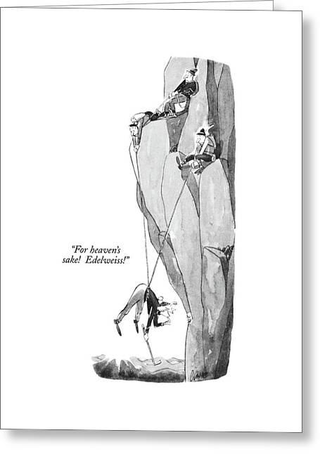 For Heaven's Sake!  Edelweiss! Greeting Card