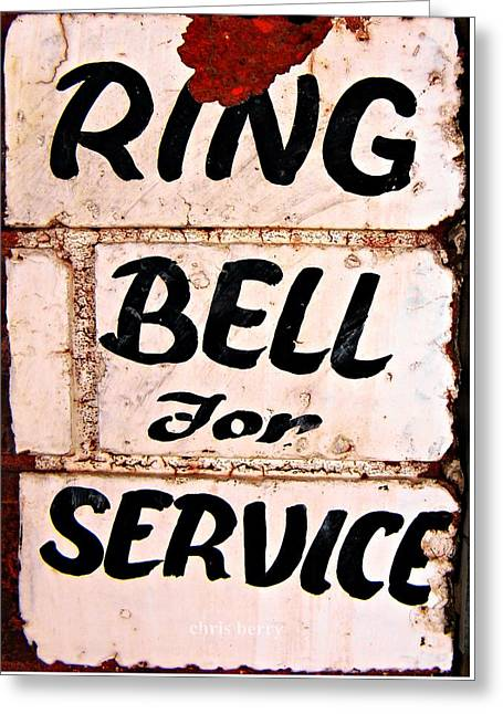 Ring Bell For Service Greeting Card