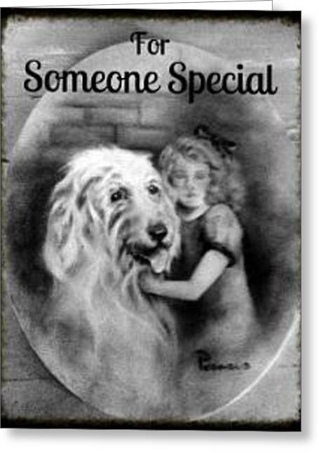 For Someone Special - Vintage Collection Greeting Card by Beverly Pegasus