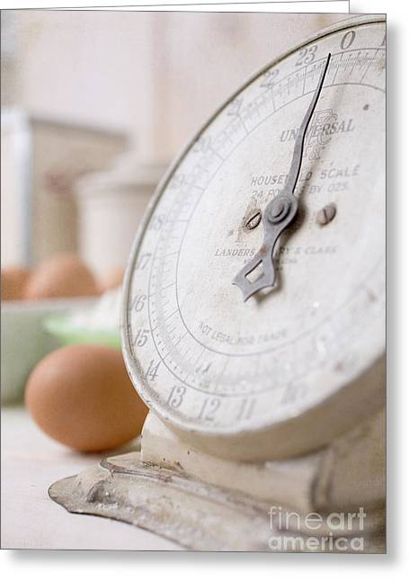 For The Baker Vintage Kitchen Scale  Greeting Card by Edward Fielding