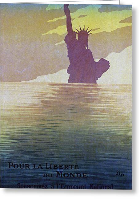 For The Freedom Of The World, 1917 Greeting Card by Sem