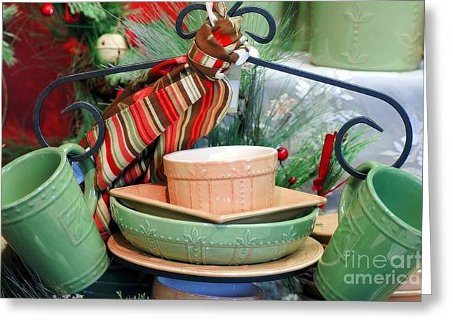 For The Kitchen Greeting Card by Kathleen Struckle