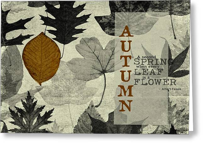 For The Love Of Autumnn Greeting Card by Bonnie Bruno