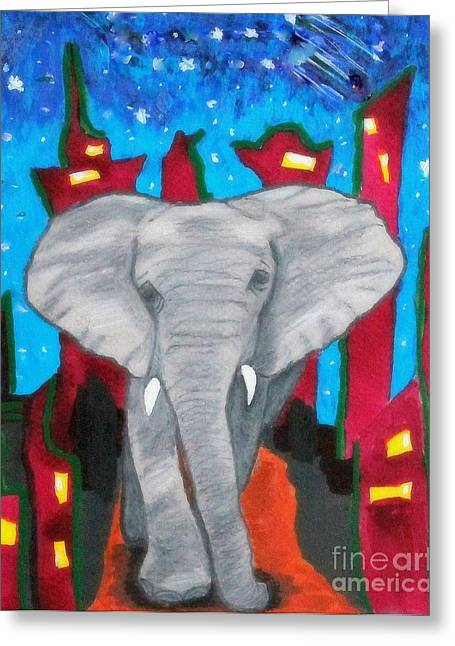 For The Love Of Elephants Greeting Card