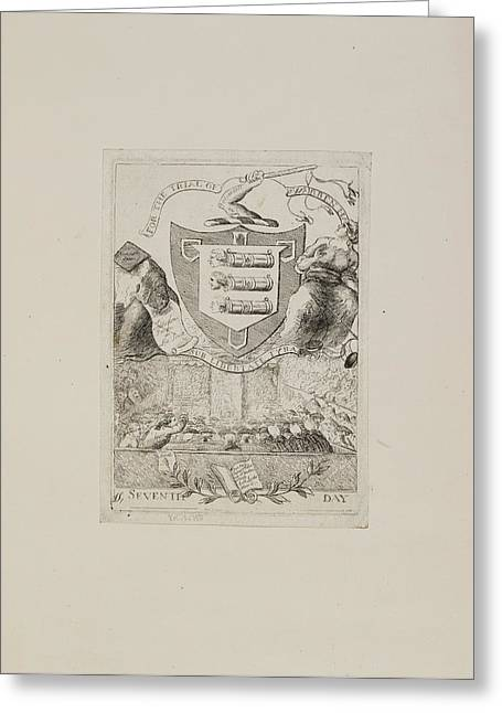 For The Trial Of Warren Hastings Greeting Card by British Library