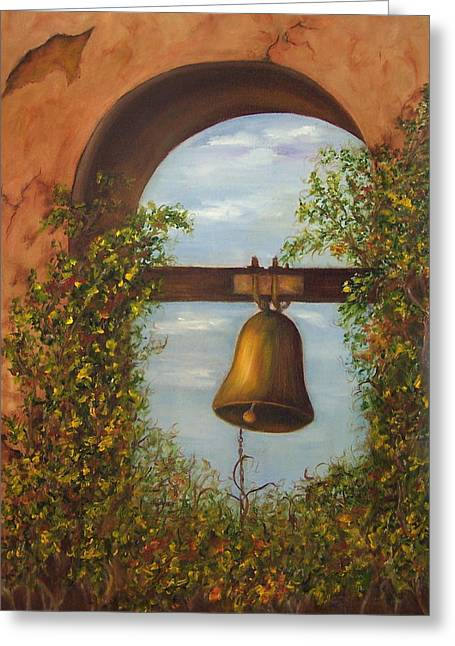 For Whom The Bell Tolls Sold Greeting Card by Susan Dehlinger