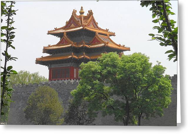 Forbidden City Building 3 Greeting Card by Kay Gilley