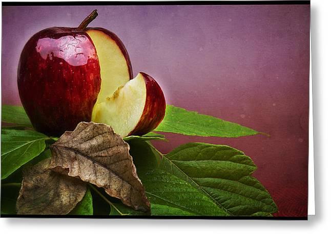 Forbidden Fruit Greeting Card by Tim Nichols