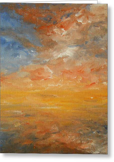 Greeting Card featuring the painting Force Of Nature 2 by Jane  See