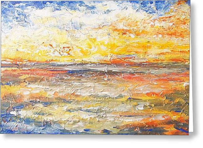 Greeting Card featuring the painting Force Of Nature 5 by Jane  See