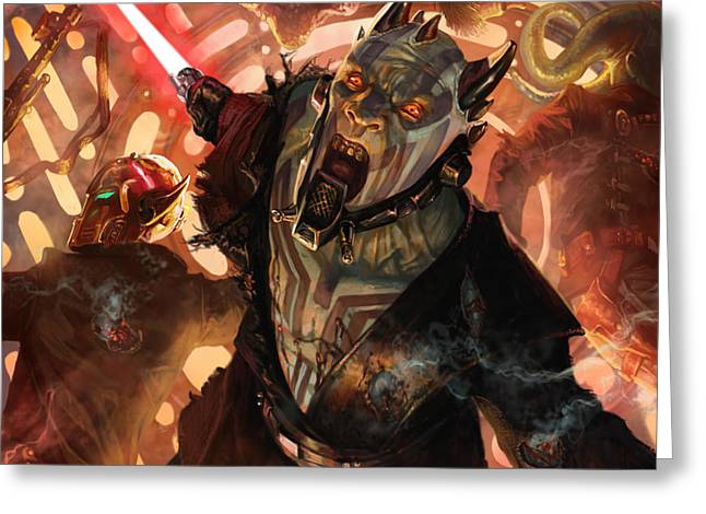 Force Scream Greeting Card by Ryan Barger