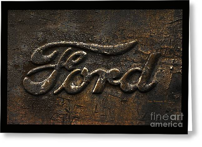 Ford Antique Pickup Truck Logo Greeting Card