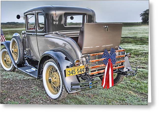 Greeting Card featuring the photograph Ford Classic by Dyle   Warren