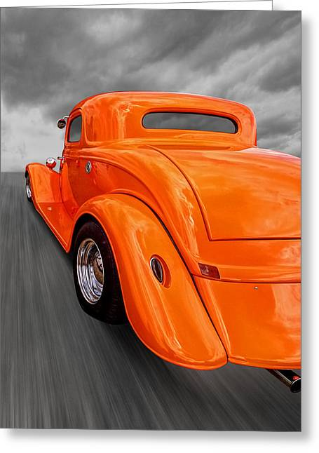 Ford Coupe Hot Rod 1934 Greeting Card by Gill Billington