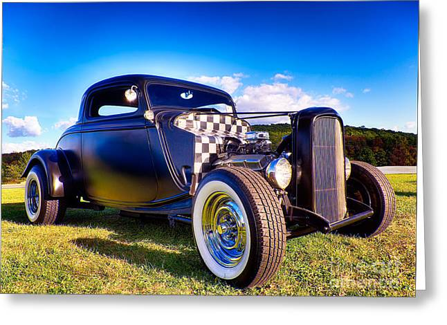 Ford Coupe Hot Rod Greeting Card by Mark Miller