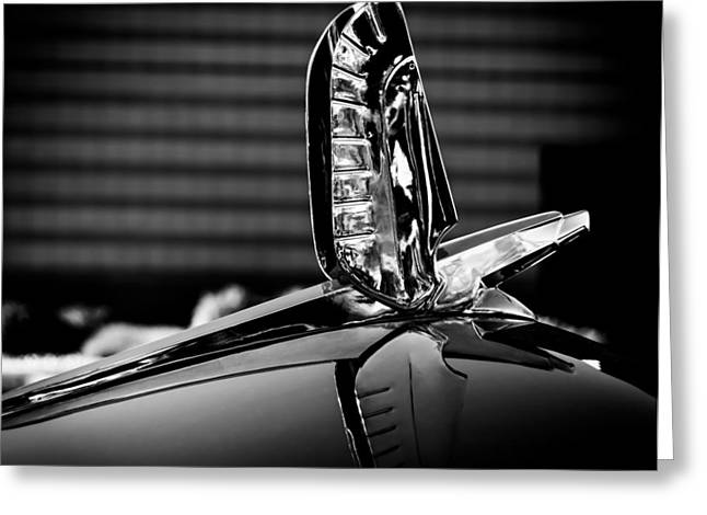 Ford - Cresline Sunliner Hood Ornament Greeting Card by Steven Milner