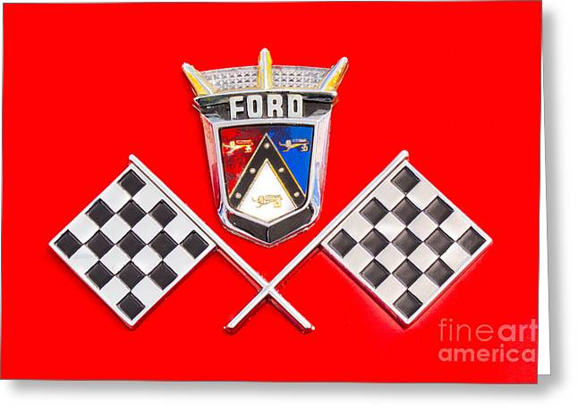 Ford Emblem Greeting Card by Jerry Fornarotto