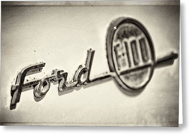 Ford F-100 Greeting Card by Caitlyn  Grasso