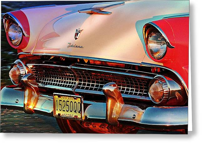 Greeting Card featuring the photograph Ford Fairlane by Allen Beilschmidt